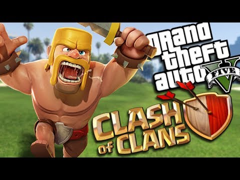 GTA 5 Mods - CLASH OF CLANS MOD (GTA 5 PC Mods Gameplay)