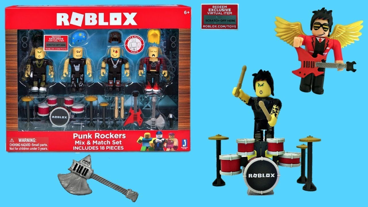 Roblox Rockstar Celebrity Gold Series 1 Mystery 3 Toys - Roblox Punk Rockers Toy Code Item Unboxing Toy Review Stop