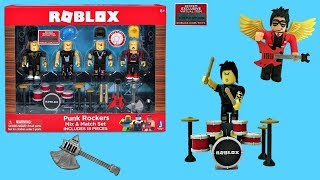 Roblox Punk Rockers Jouet - Code Item, Unboxing - Toy Review, Stop-Motion Animation, #RobloxToys