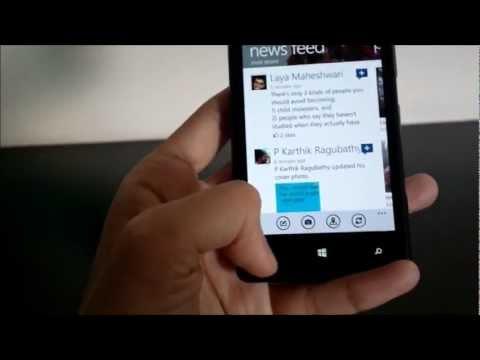 Facebook For Windows Phone 8 On Nokia Lumia 820