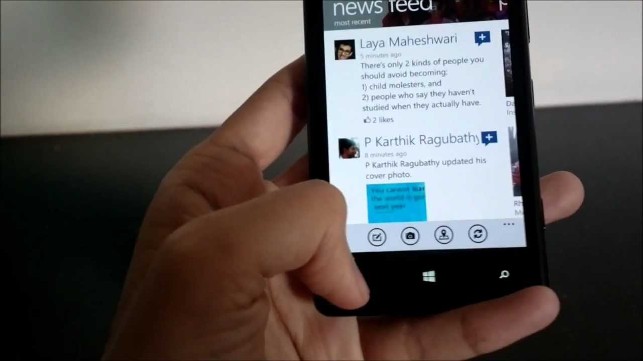 facebook nokia lumia