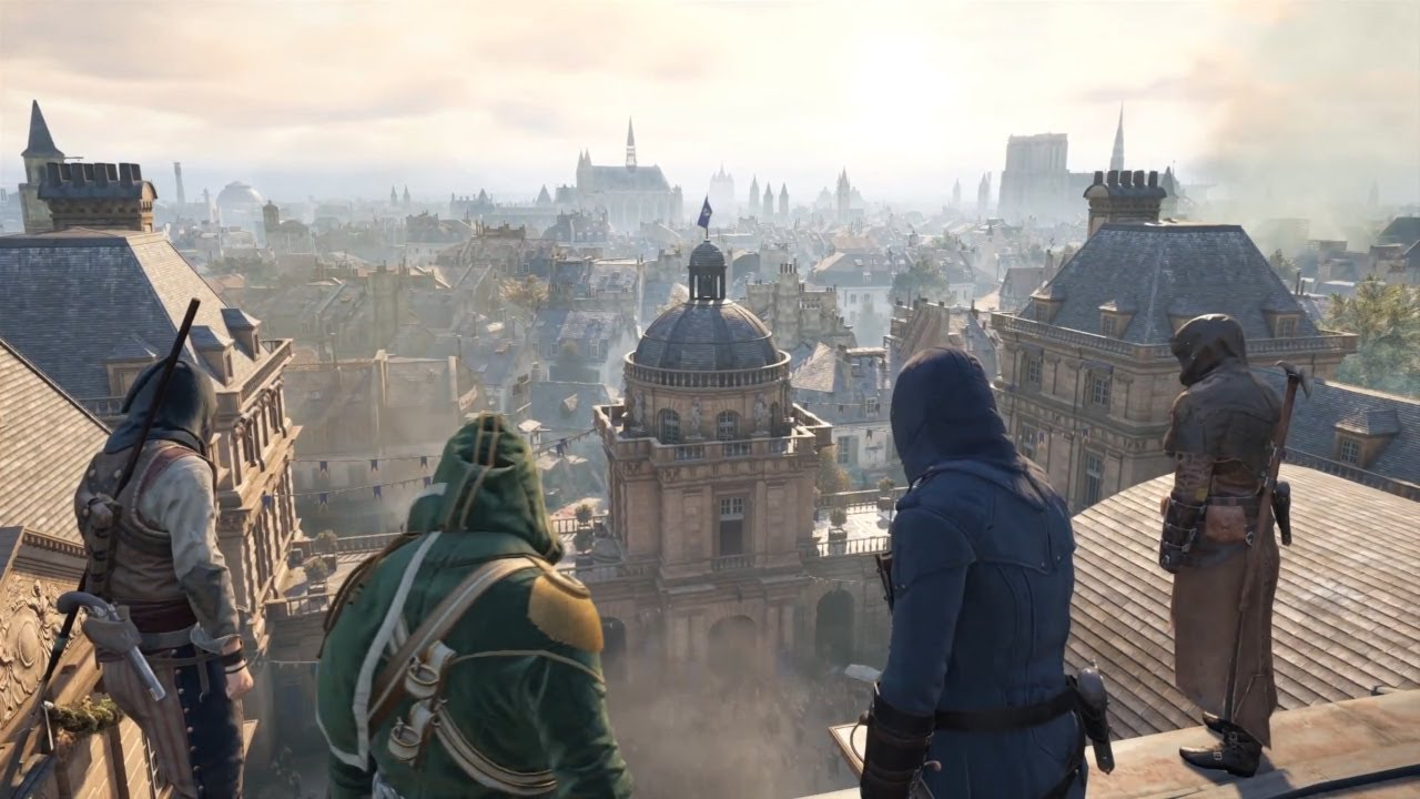 Assassin S Creed Unity Co Op Gameplay Xbox One 4 Player Ac Unity