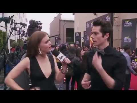 Holland Roden and Dylan O'Brien MTV Movie Awards 2013