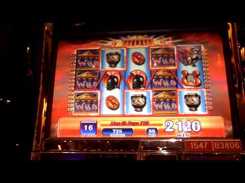 Zeus slot bonus with retrigger win at Sands Casino at Bethlehem, PA