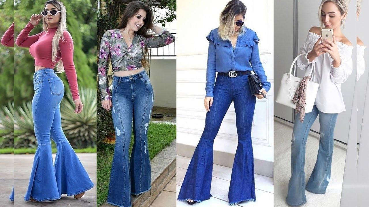 Ideas De Outfits Con Pantalones Acampanados En Tendencia 2019 2020 Youtube
