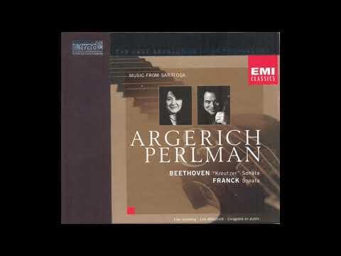 Beethoven: Kreutzer Sonata, Franck: Sonata / Argerich & Perlman 1998