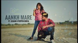 SIMMBA : Aankh Marey | Trap Mix |  Dance Choreography ft. Ujjain X Poppin Dibya | Vigoureux Crew