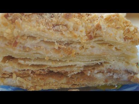 Торт Наполеон Классический. Нежный, ароматный и очень вкусный!