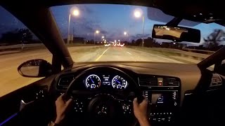 2015 Volkswagen Golf R (DSG) - WR TV POV Night Drive