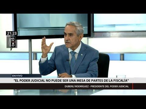 """Duberlí Rodríguez: """"El Poder Judicial no puede ser una mesa de partes de la Fiscalía"""""""