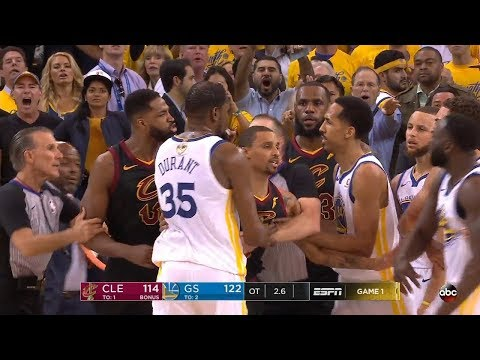 Tristan Thompson & Draymond Green Scuffle - Game 1 | Cavaliers vs Warriors | 2018 NBA Finals