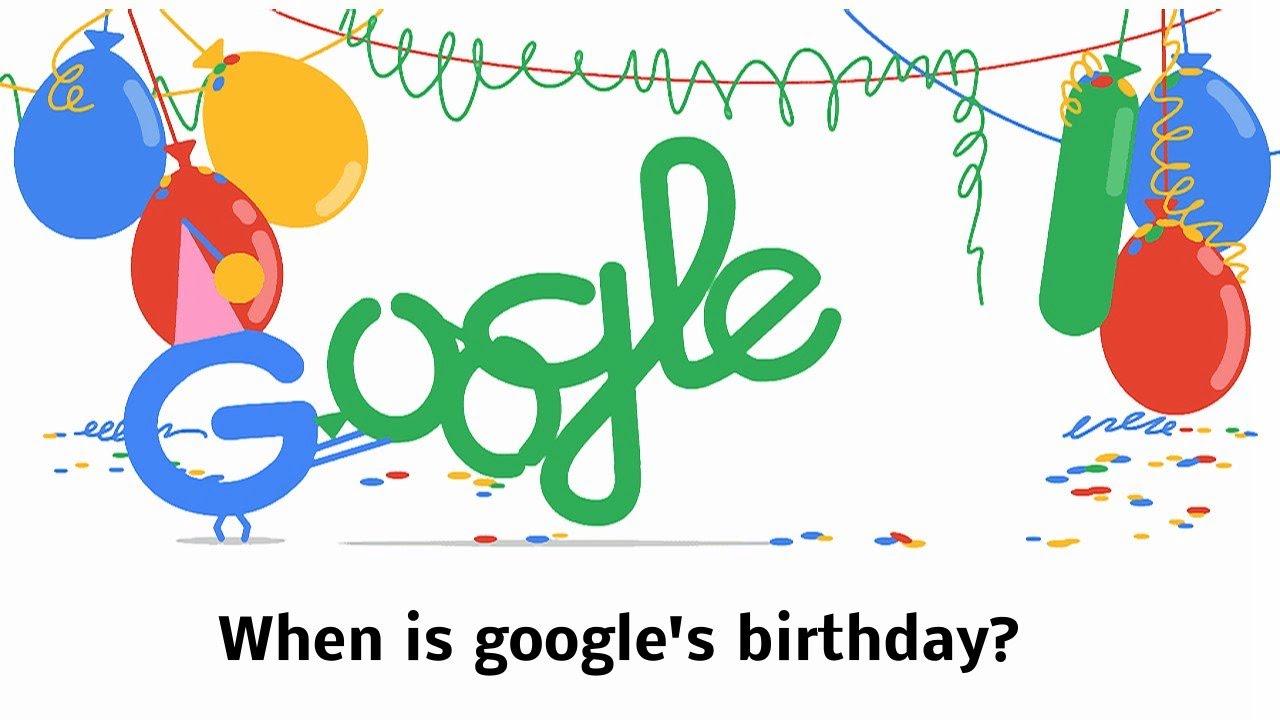 google születésnapi képek When is google's birthday? Mikor van a Google születésnapja  google születésnapi képek