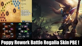 POPPY REWORK: Top Gameplay (Battle Regalia Skin) League of Legends