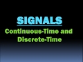Continuous and Discrete time signals [HD]