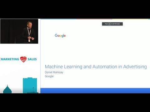 """Leveraging Machine Learning and Automation in Advertising"" Daniel Ramsay, Google"