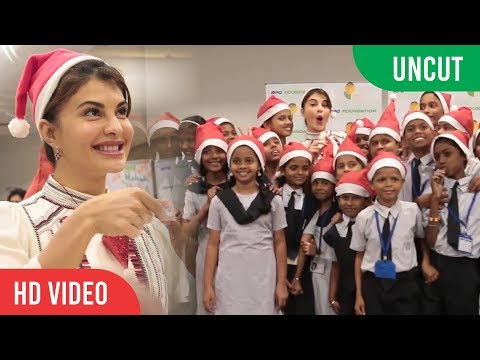 UNCUT - Jacqueline Fernandez Christmas Celebrations 2018 With Cute Little Kids | X-Mas Celebration