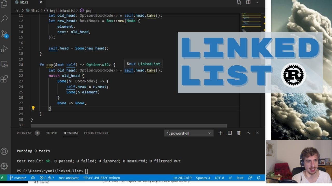 A Singly Linked List in Rust