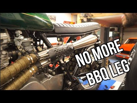 KZ750 Scrambler: Finishing our custom exhaust