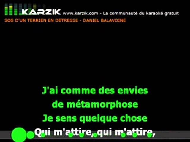 Karaoké Balavoine Sos D Un Terrien En Detresse Youtube