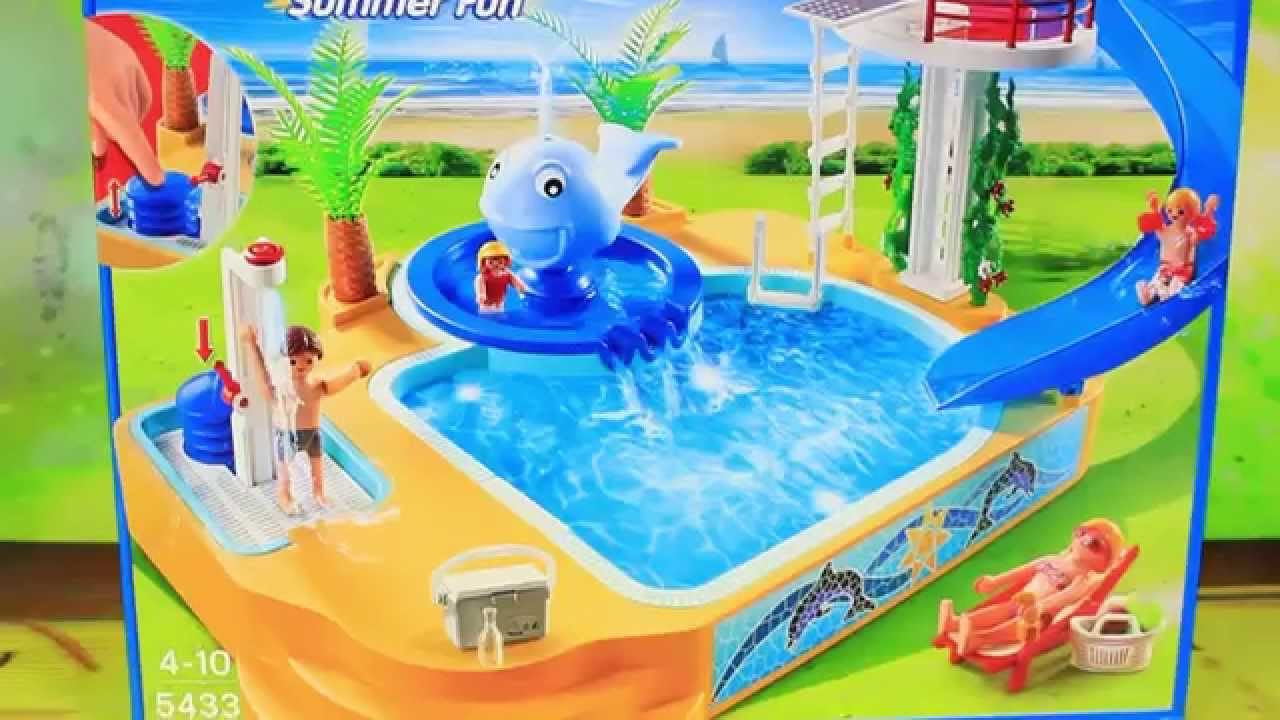 Beautiful Childrenu0027s Pool With Whale Fountain Playset   5433   Summer Fun   Playmobil    YouTube