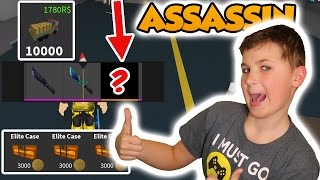 OPENING ELITE CASES FOR 10000 TOKENS in ROBLOX ASSASSIN !!!