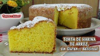 torta de harina de arroz sin gluten estilo portugués deliciosa