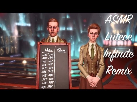 Binaural ASMR Ear-to-Ear Whisper Bioshock Infinite Remix: Lutece Twins With Soft Layering