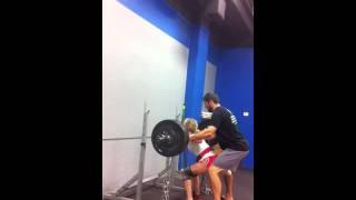 squat160+40lbs chains