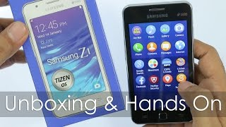 Samsung Z1 Smartphone with Tizen OS Unboxing & Hands On Overview