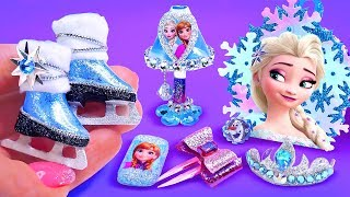 7 DIY Frozen crafts and hacks for Barbie doll