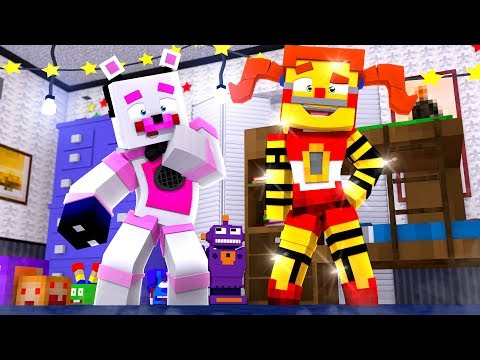 Golden Circus Baby Jumpscare! Minecraft FNAF Roleplay