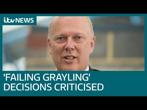 Chris Grayling MP criticised over Department for Transport decision making | ITV News