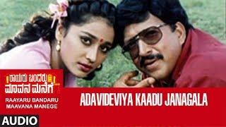 Adavideviya Kaadu Janagala Full Song   Raayaru Bandaru Maavana Manege   Vishnuvardhan, Dwarkish