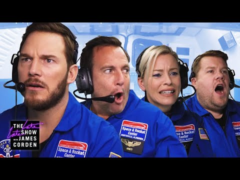 Astronaut Training w Chris Pratt Elizabeth Banks & Will Arnett