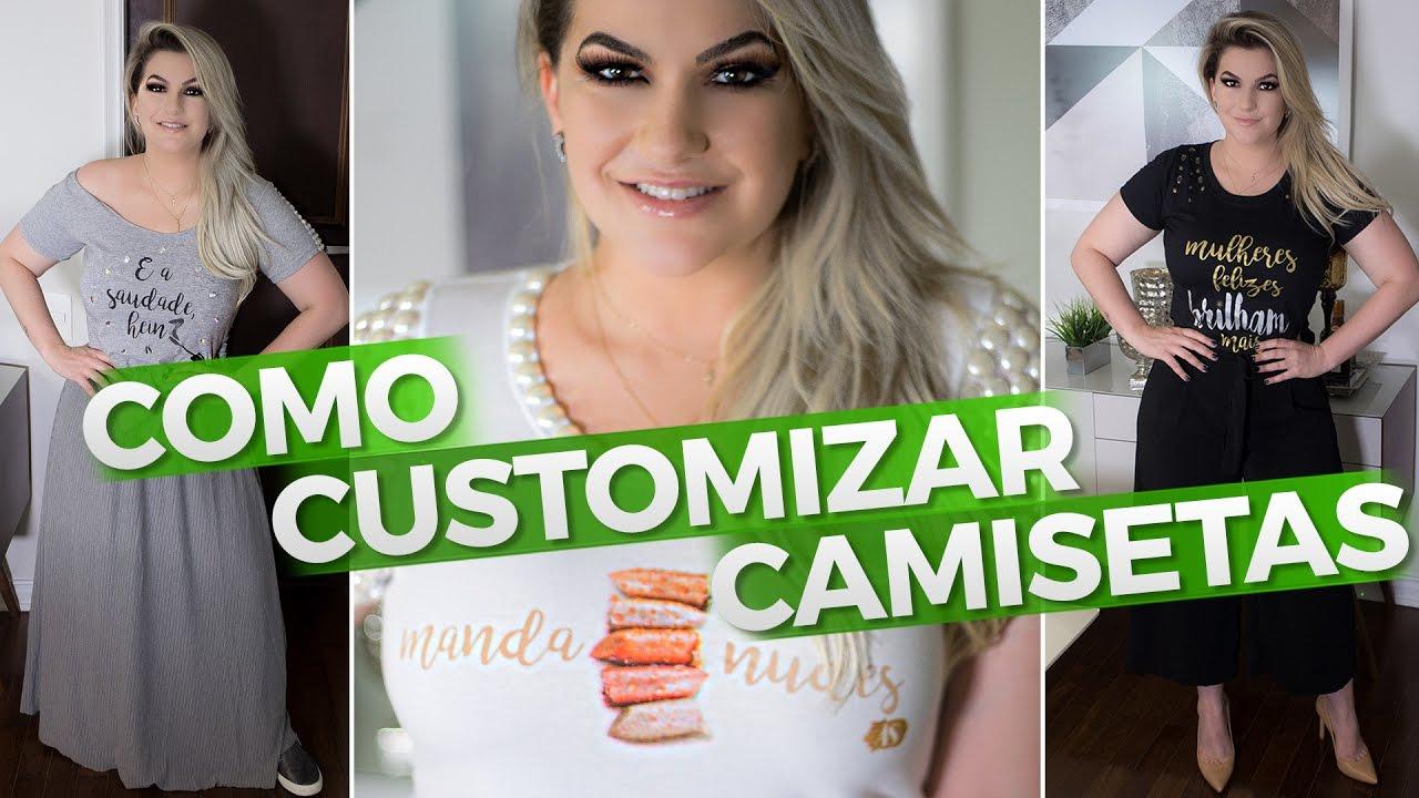 295aca430 COMO CUSTOMIZAR CAMISETAS - YouTube
