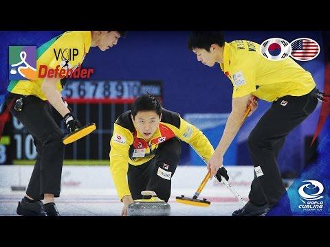 Korea v USA - Page 1v2 (Men) - VoIP Defender World Junior Curling Championships 2017