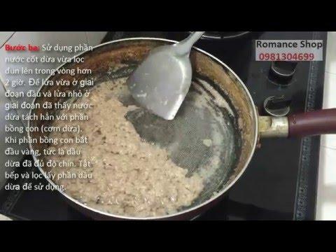 Cách nấu dầu dừa nguyên chất tại nhà – Virgin coconut oil cooking at home