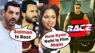 Bollywood Celebs Reaction On Salman Khan's RACE 3   John Abraham, Saif Ali Khan