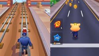 Subway 👰Princess runner Vs Cat 😺 Runner Game ; Best Gameplay    Run Game in Android phone 📱 ios