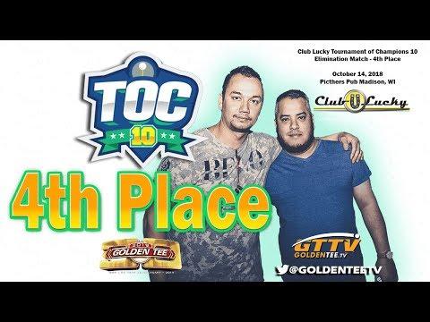 🏆 GTTV -◾ Golden Tee TOC 10 Club Lucky 4TH PLACE ◾ Paul Luna vs. Clint Grover