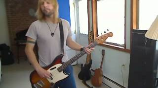 "Rainbow ""Jealous Lover"" bass cover Jimmy Riot"