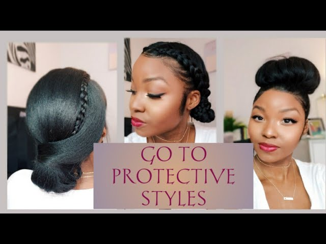 Simple Go To Protective Styles Relaxed Hair April Sunny Youtube