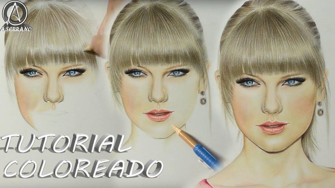 C mo colorear un rostro con lapices de colores tutorial - Colores para colorear ...