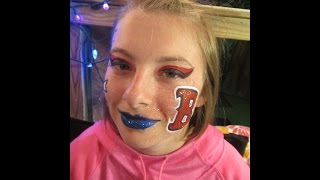 Boston Red Sox Facepainting By Snowqueen