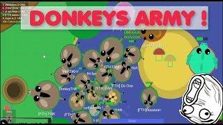 Mope.io // LEGENDARY DONKEYS ARMY //EPIC PUFFERFISH ARMY //