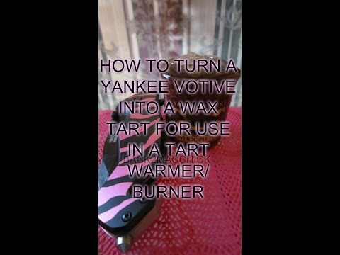 Diy How To Turn Your Yankee Candle Votive Into Tart To Use In Your Tart Warmer