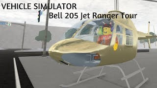 [ROBLOX] Vehicle Simulator | Bell 206 Helicopter Tour!