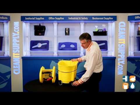 rubbermaid-757788-wavebrake-35-qt.-mop-bucket-and-wringer