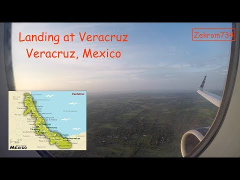 Landing at the Veracruz International Airport in the morning at 1080p
