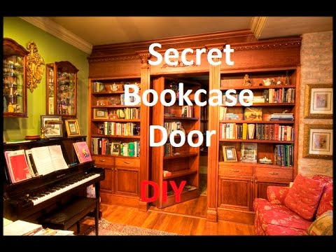 Secret Bookcase Door how to build a secret bookcase door diy & Secret Bookcase Door how to build a secret bookcase door diy - YouTube
